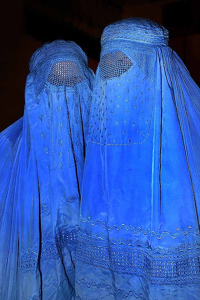 Women wearing Burqas in the Middle East