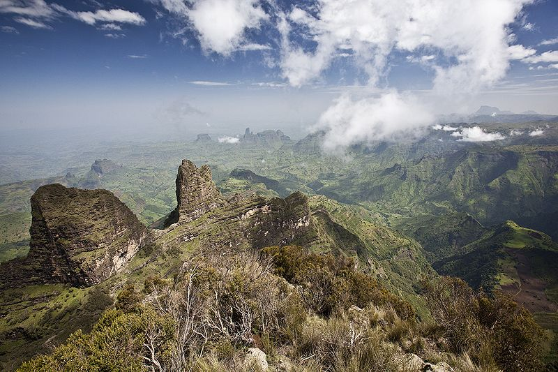 The Semien Mountains in Ethiopia